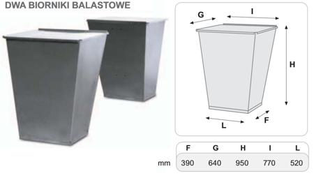 DOSTAWA GRATIS! 55547228 Dwa zbiorniki balastowe do podstawy 800 kg