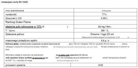 DOSTAWA GRATIS! 86854939 Piec wolnostojący Invicta 8kW Mesnil (górna średnica wylotu spalin: 150mm, kolor: antracyt)