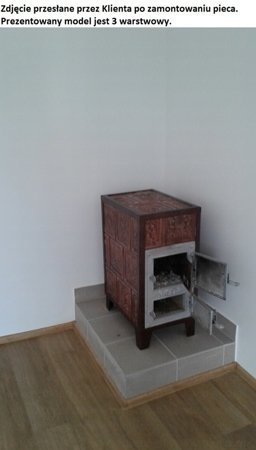 DOSTAWA GRATIS! 92238184 Piec grzewczy kaflowy 9,5kW Retro czterowarstwowy na drewno i węgiel (kolor: beż)