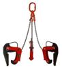 3398556 Zawiesie łańcuchowe 3-cięgnowe zakończone uchwytami do podnoszenia kręgów betonowych GDA 3,0 (udźwig: 3 T, zakres chwytania: 50-180 mm)